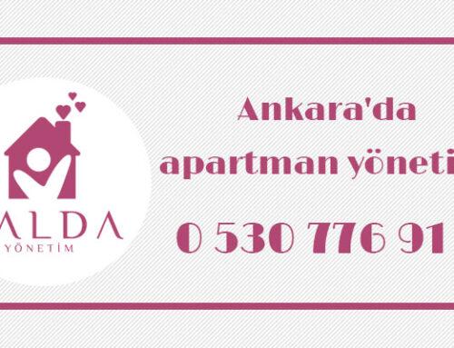Ankara'da apartman yönetimi