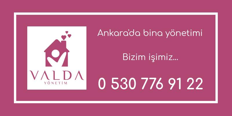 Ankara'da bina yönetimi